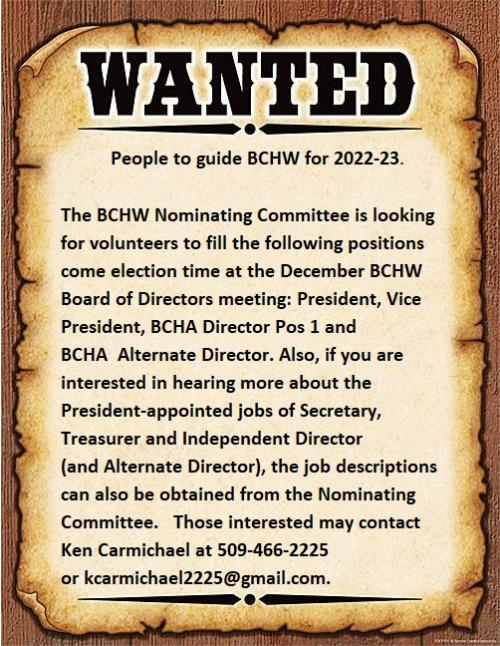 Advertisement for 2022-23 Officers